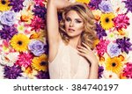 beautiful sensual woman in... | Shutterstock . vector #384740197