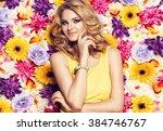 beautiful sensual woman in... | Shutterstock . vector #384746767