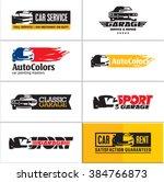 car logos  car icons  car... | Shutterstock .eps vector #384766873