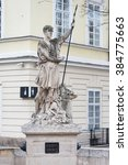 Small photo of Statue of Adonis at the Market Square in Lviv, Ukraine