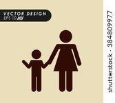 family silhouette design    Shutterstock .eps vector #384809977