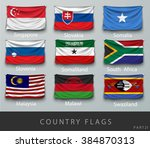 wave country flag with shadows... | Shutterstock .eps vector #384870313