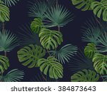 seamless pattern with tropical... | Shutterstock .eps vector #384873643
