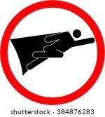superhero sign | Shutterstock .eps vector #384876283