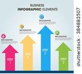 business infographics vector... | Shutterstock .eps vector #384883507