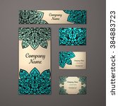 templates set. business cards ... | Shutterstock .eps vector #384883723