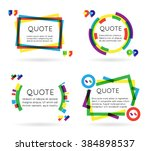 colorful quote template... | Shutterstock .eps vector #384898537