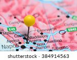 Small photo of Acerra pinned on a map of Italy