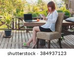 employees work during rest and... | Shutterstock . vector #384937123