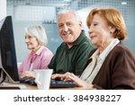 confident senior man with... | Shutterstock . vector #384938227