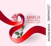 happy women's day paper design. ... | Shutterstock .eps vector #384944527