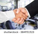 handshake. | Shutterstock . vector #384951523