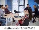 startup business team on...   Shutterstock . vector #384971617
