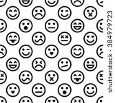 vector pattern with emoticons ... | Shutterstock .eps vector #384979723
