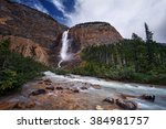 Waterfalls Cascading Down The...