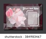 card on rose  mosaic background | Shutterstock .eps vector #384983467