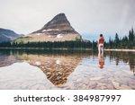 hidden lake | Shutterstock . vector #384987997