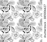 seamless pattern with elements... | Shutterstock .eps vector #385006627