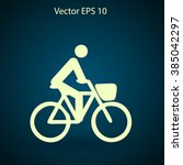 flat cyclist icon | Shutterstock .eps vector #385042297