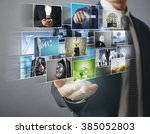 reaching images streaming ... | Shutterstock . vector #385052803