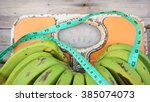 close up of bathroom weight... | Shutterstock . vector #385074073