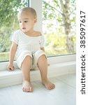 little kid at home | Shutterstock . vector #385097617