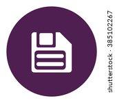 floppy disc. vector icon purple