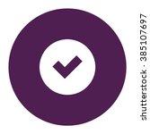 tick sign. vector icon purple