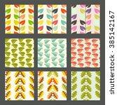 vector set of seamless pattern...   Shutterstock .eps vector #385142167