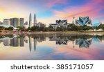 kuala lumpur  malaysia skyline...   Shutterstock . vector #385171057