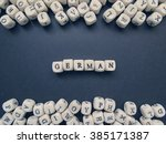word german of small white...   Shutterstock . vector #385171387