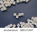 word bank of small white cubes...   Shutterstock . vector #385171447