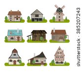 Medieval Ancient Buildings Set...