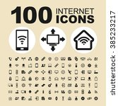 internet technology icons.... | Shutterstock .eps vector #385233217