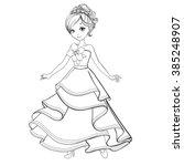 coloring book vector... | Shutterstock .eps vector #385248907