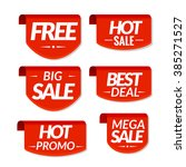 sale tags labels. special offer ... | Shutterstock .eps vector #385271527