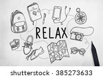 travel tourism journey relax... | Shutterstock . vector #385273633