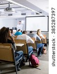 students during conference... | Shutterstock . vector #385287397