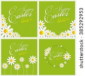 happy easter spring background... | Shutterstock .eps vector #385292953