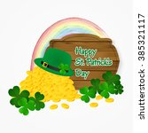 saint patrick's day coin of... | Shutterstock .eps vector #385321117