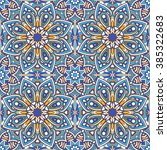 seamless oriental ornamental... | Shutterstock .eps vector #385322683