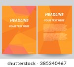 abstract vector modern flyers... | Shutterstock .eps vector #385340467