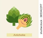 artichoke vector icon | Shutterstock .eps vector #385342297
