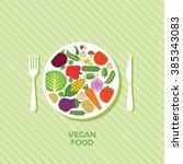 vegan food vector image concept ... | Shutterstock .eps vector #385343083
