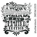 i am not weird  i am limited... | Shutterstock .eps vector #385361323