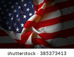 american flag as background | Shutterstock . vector #385373413