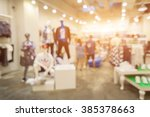 Blur Of City Shopping People...