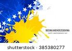 vector illustration of bosnia...