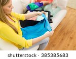 trip  vacation  luggage and...   Shutterstock . vector #385385683