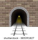 Railway Tunnel Vector...